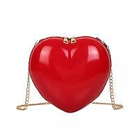 Cумочка кросс-боди в форме сердца красная GS1046