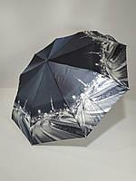 """Женский зонт, полуавтомат с изображениями городов, сатин от фирмы """"Calm Rain"""""""