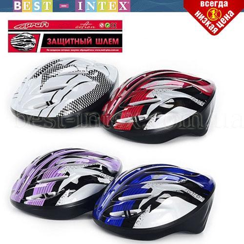 MS 0033 Шлем защитный  27-22-13см, 11 отверстий, размер большой, 4 цвета