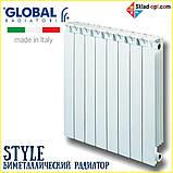 Биметаллический радиатор Global STYLE 350/80, Италия, фото 2