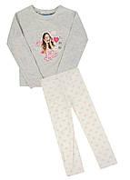 Комплект (кофта, штаны) Disney 110см Серый, Белый, Розовый