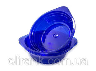 Тарелка стеклоподобная глубокая 500мл 10шт/уп  цветная