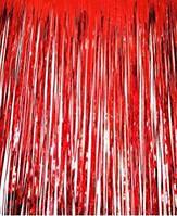 Шторка занавес из фольги для фото зоны красная 1х2 метра