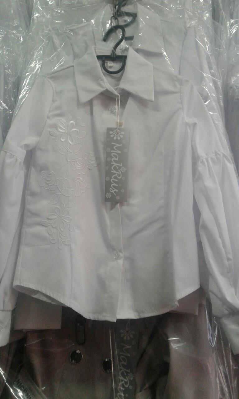 Школьная детская блуза для девочки
