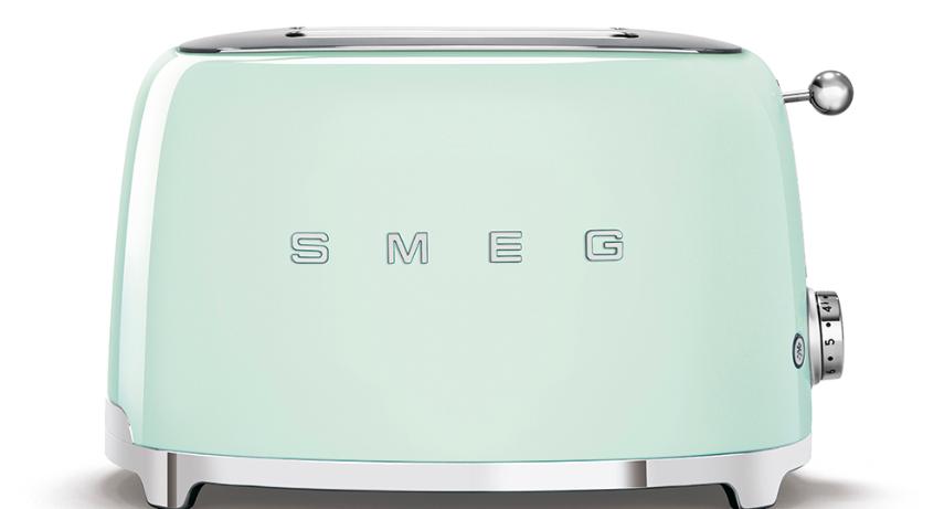 Тостер Smeg TSF01PGEU пастельно-зеленый (бирюзовый)