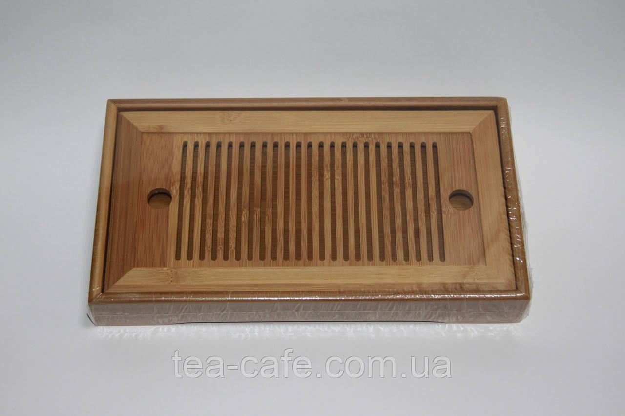 Чабань бамбукова для чайної церемонїї 25*14*3,5 см