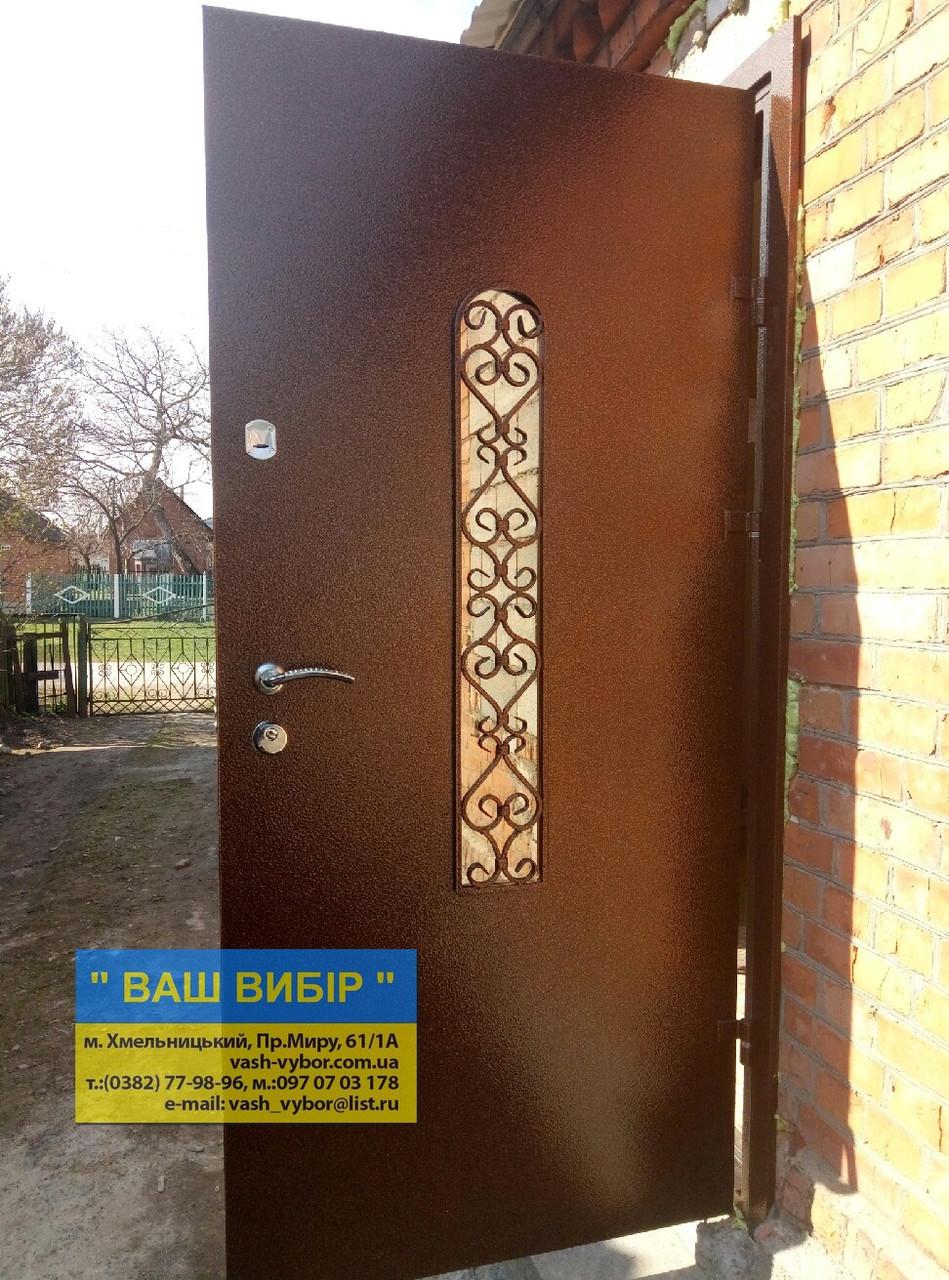 Двери входные  МЕТАЛ+КОВКА 960*205 БЕСПЛАТНАЯ ДОСТАВКА