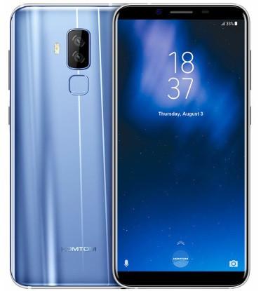 "Смартфон Homtom S8 4/64Gb Blue, 16+5/13Мп, 8 ядер, 2sim, экран 5.7"" IPS, 3400mAh, GPS, 4G, Android 7.0"