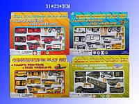 Набір модельок 9 шт. 927W15 (72шт/2) транспорт металевий-пластик, 4 види в кор. 31*23*3 см
