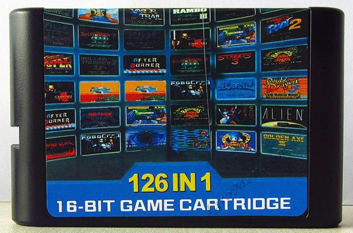 Картридж сега 126 в 1 (все игры разные!)
