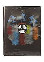 """Папка на резинках """"Surf Rider"""" А4 Penny 34х26см Коричневый, Голубой, Терракотовый"""