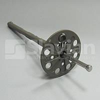 Дюбель крепления теплоизоляции 10х120мм,  металлический гвоздь и термозаглушка, фото 1