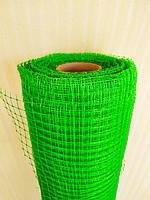 "Сетка ""Птичка"" защитная рулон 1х100м., ячейка 12х14 мм. (зеленая, черная) Клевер, фото 1"