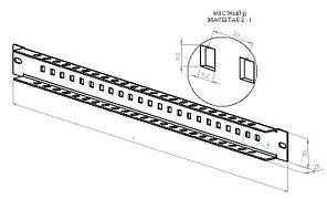 Перфорированная планка ППШ1000, фото 2