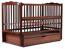 Ліжко Babyroom Веселка маятник, ящик, відкидний пліч DVMYO-3 бук горіх
