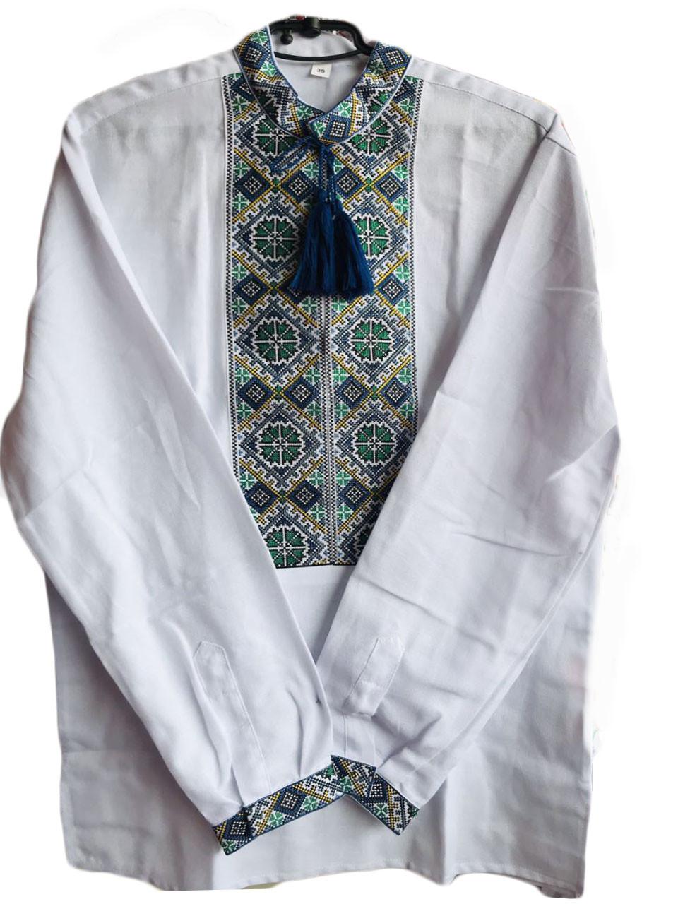 Мужская вышиванка с длинным рукавом ворот 37-46 размер