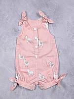"""Летний ромпей """"Кайли"""" Овечки на розовом для девочек 0-18 мес. (р. 62-86) ТМ MagBaby 107105"""