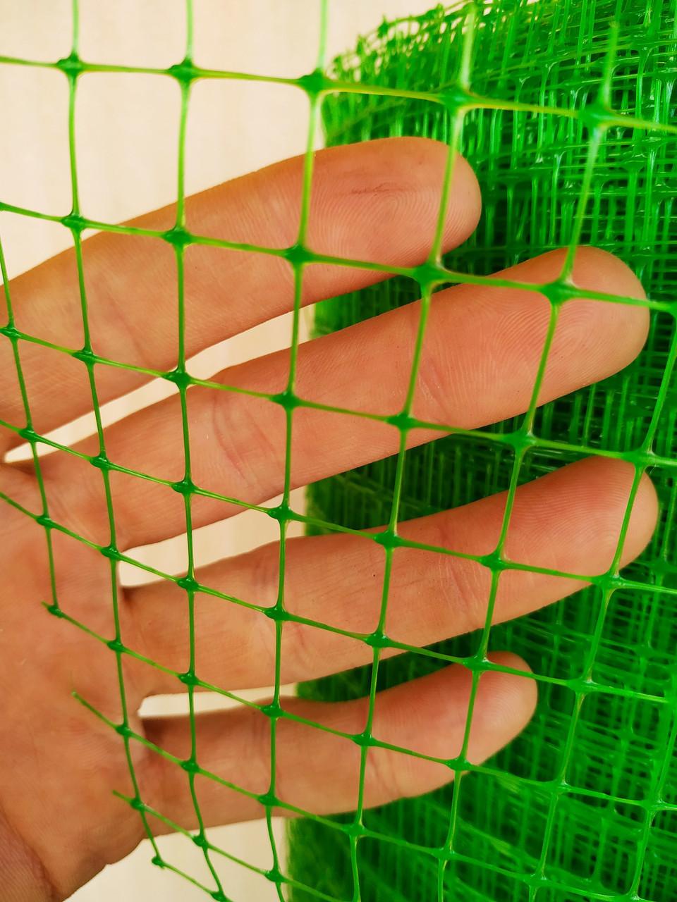 "Сетка ""Птичка"" 2х100м для защиты от птиц, рулон, ячейка 12х14 мм. (зеленая, черная) Клевер"