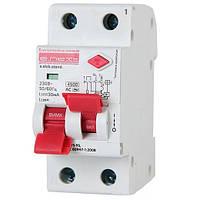 Вимикач диференційного струму (дифавтомат) e.elcb.stand.2.C10.30, 2р, 10А, C, 30мА с разділеною рукояткою
