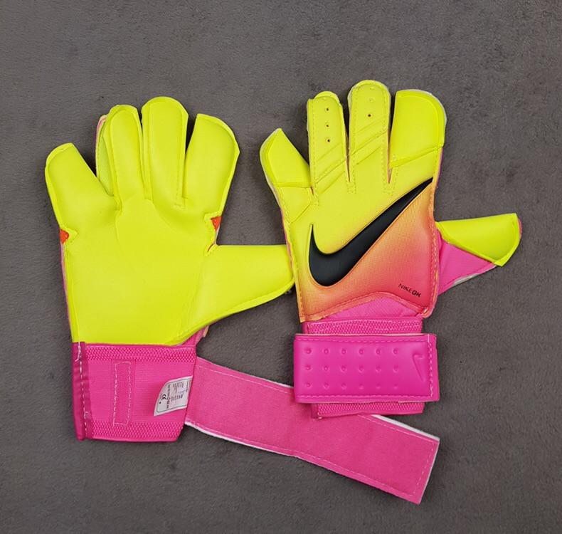 Перчатки Вратарские Nike Vapor Grip 3 салатово-розовые