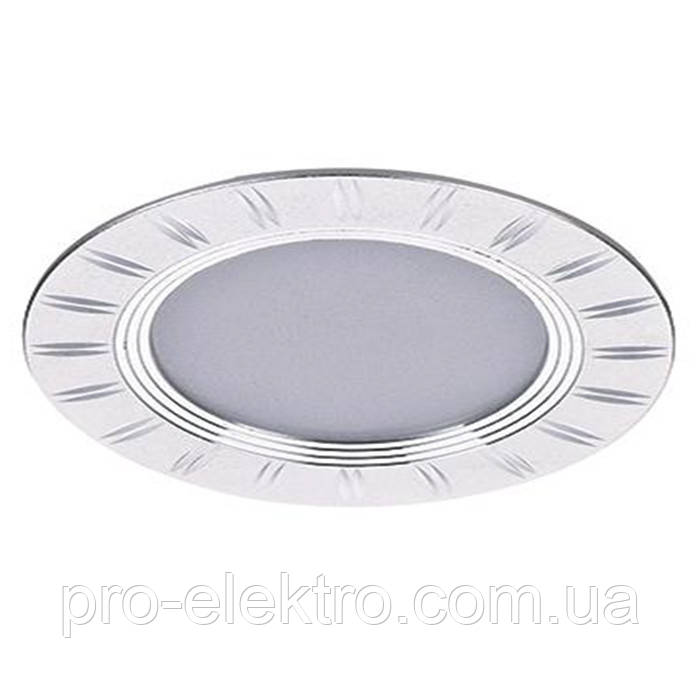 Светодиодный встраиваемый декоративный LED светильник ZL261053 5w 4500k SILVER Z-Light