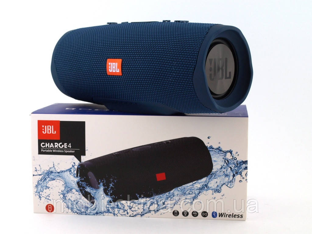JBL Charge 4+ 20W AAA top реплика, Bluetooth колонка с FM MP3, синяя
