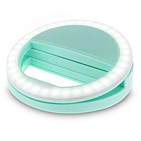 Светодиодное кольцо для селфи (салатовый)
