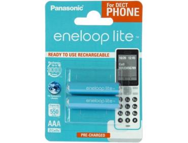 Аккумулятор Panasonic AAA 550mAh NiMh 2шт Eneloop Lite Dect series (BK-4LCCE/2DE)