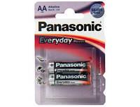 Батарейка Panasonic AA bat Alkaline 2шт Everyday Power (LR6REE/2BR)