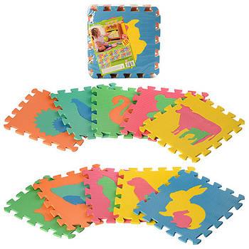 Коврик конструктор Eva Puzzle Mats Животные (2738) 10 деталей