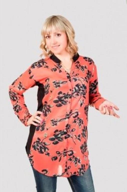 d0ceb172e78 Стильная женская блуза с цветочным принтом больших размеров от ...