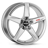 Наклейка на диск колеса - RS красная: комплект 4 шт., фото 1