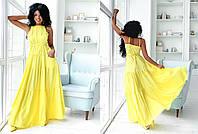 """Длинное летнее платье-сарафан """"Margo"""" с карманами и открытой спиной (5 цветов)"""