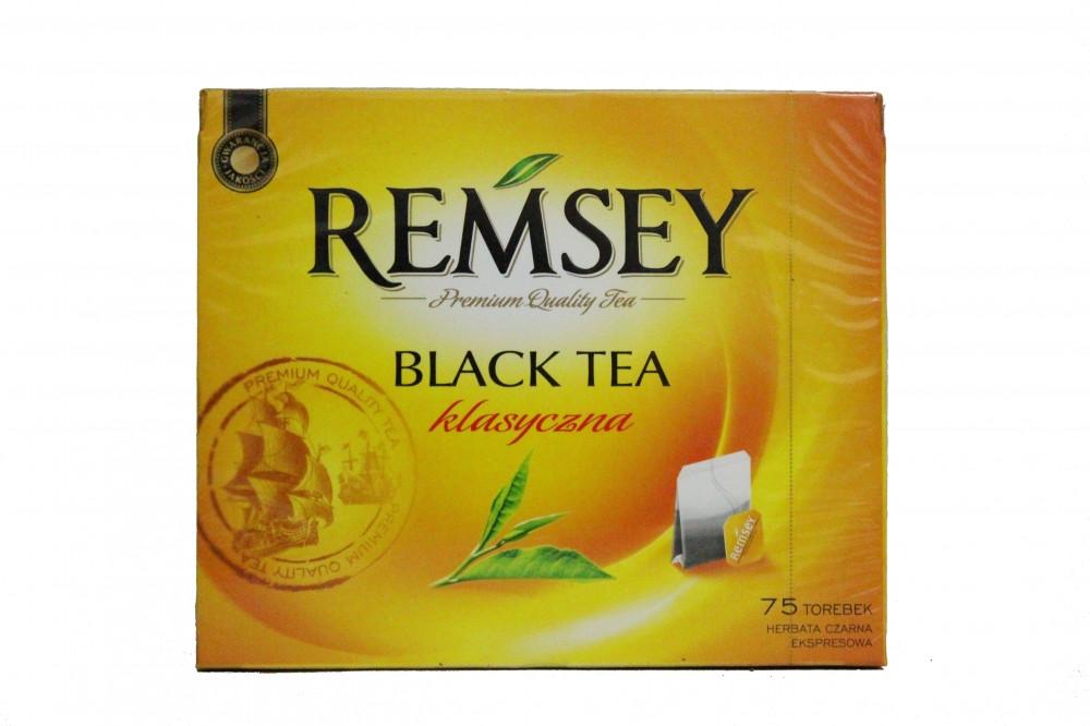 Чай черный без добавок в пакетиках Ramsey Black Tea Clasyczna, 75шт Польша