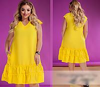 Платье летнее яркого цвета,  с 50-60 размер, фото 1