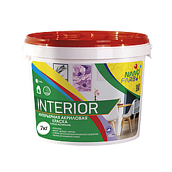 Интерьерная акриловая краска Nano farb Interior 7кг