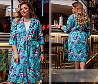 Летнее платье с цветным кардиганом,  с 50-60 размер, фото 1