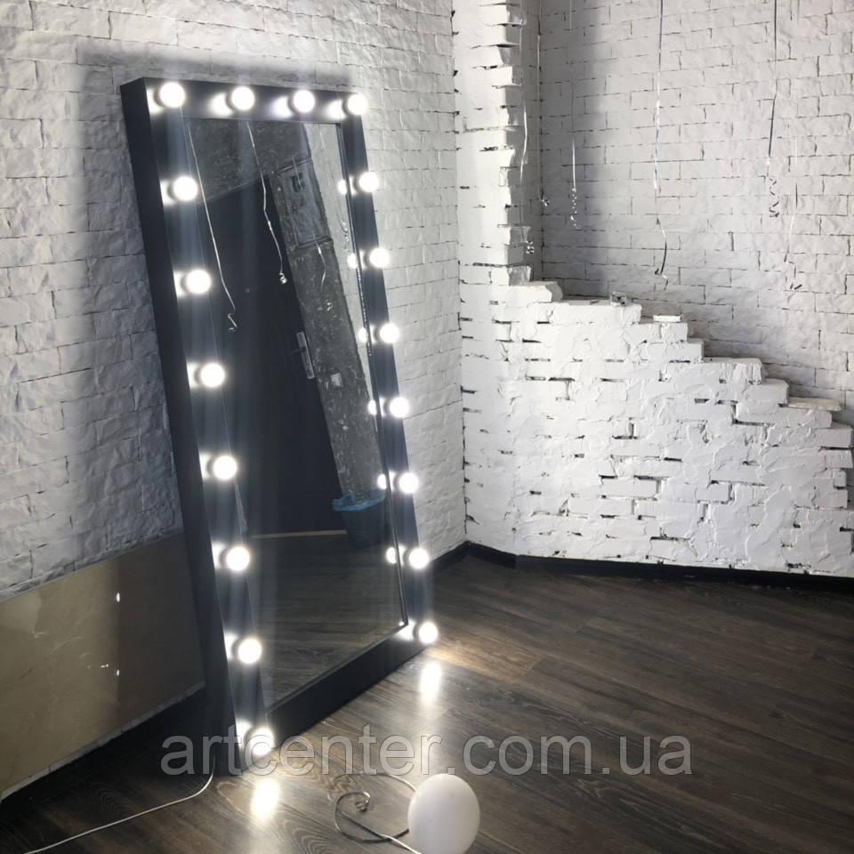 Зеркало в полный рост, в раме, с подсветкой