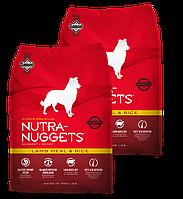 Корм для собак Nutra Nuggets Lamb & Rice 2X3 кг (Красная Нутра) с ягненком Made in the USA.