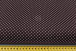 Бязь с мелкими белыми точками на коричневом фоне ( № 310), фото 2