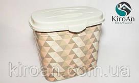 Контейнер для стирального порошка на 7 л Elif plastik Геометрия