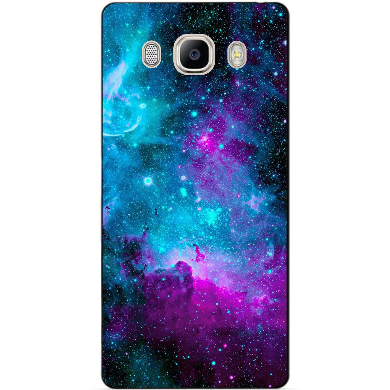 Силиконовый чехол бампер для Samsung J7 2016 Galaxy J710 с рисунком Галактика