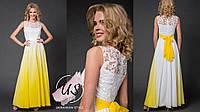 Роскошное градиентное женское платье в пол. 5 цветов!, фото 1