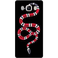 Силиконовый чехол бампер для Samsung J7 2016 Galaxy J710 с рисунком Gucci змея