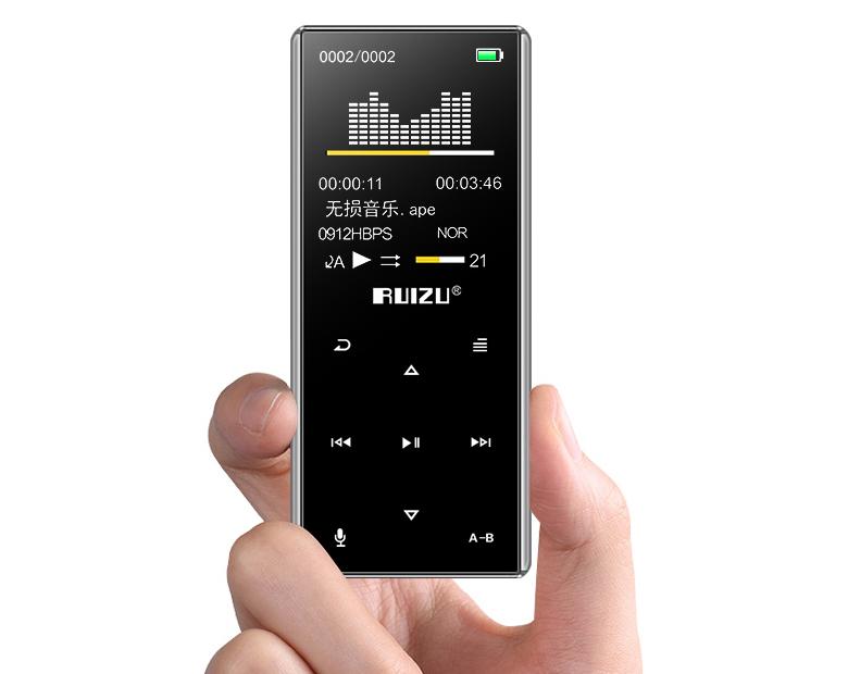 MP3 Плеер RuiZu D29 8Gb Hi-Fi Bluetooth Original Серебро