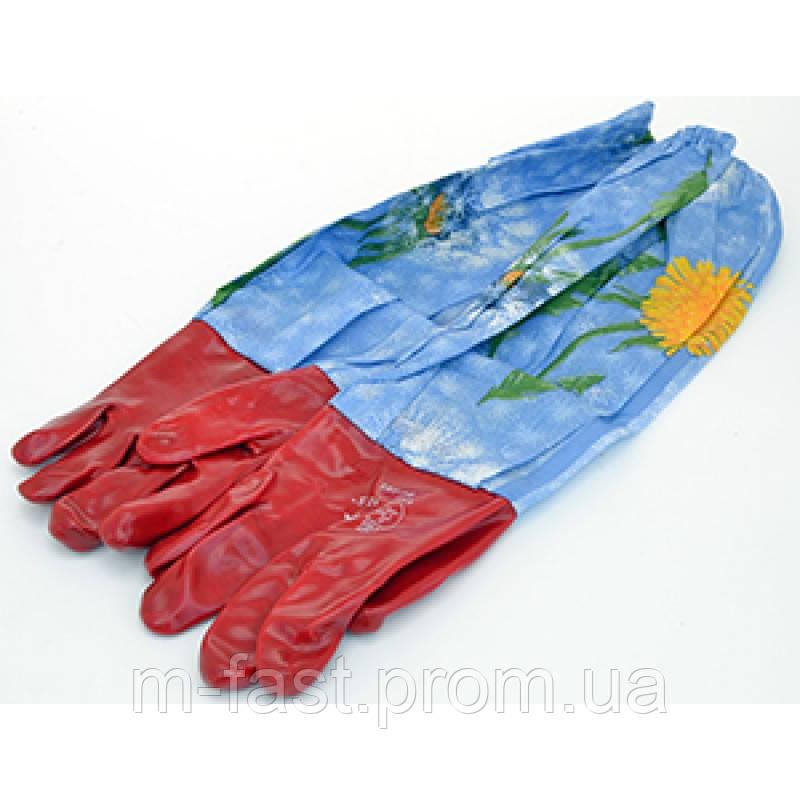Гумові рукавички з нарукавниками