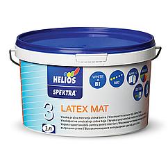 Матовая латексная краска для стен и потолка Latex Mat Spektra Helios 1л