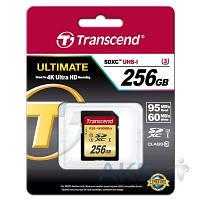 Карта памяти Transcend 256GB SDXC Ultimate Class 10 UHS-I U3 R95/W65MB/s (TS256GSDU3)