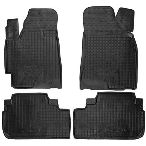 Коврики в салон для Тойота Highlander 2008-2014 черный, кт - 4шт 11348 Avto-Gumm