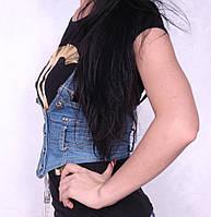 Женская легкая джинсовая жилетка